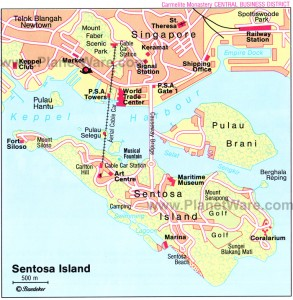 sentosa island map1 293x300 SİNGAPUR – 2.gün SİNGAPUR, SENTOSA