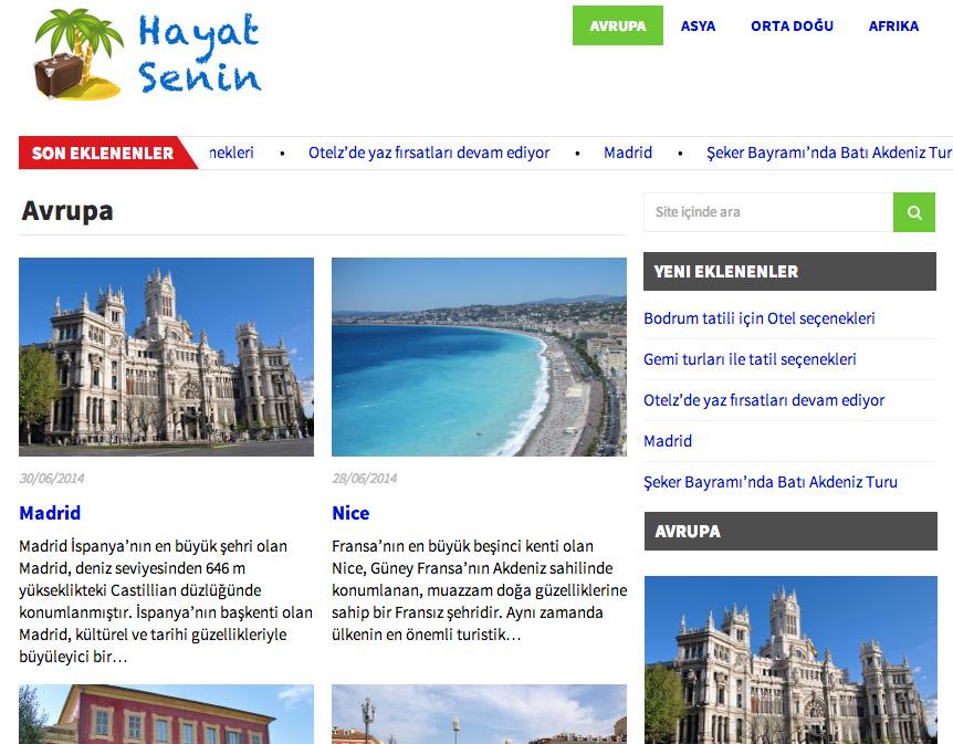 hayat senin Yurt dışı tatil yazıları Hayatsenin.comda